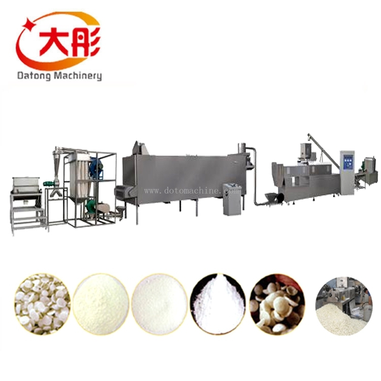 Modified strach processing line